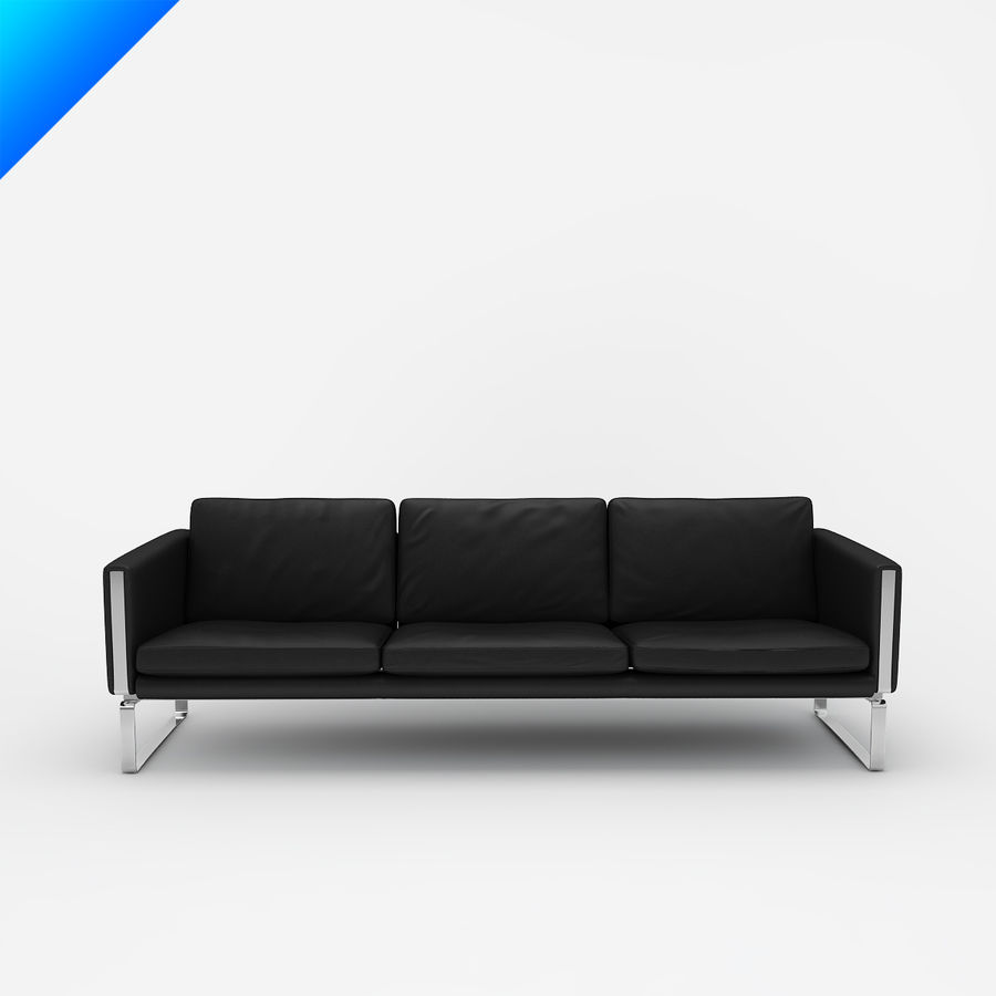 Hans Wegner CH103 Lounge Chair royalty-free 3d model - Preview no. 2