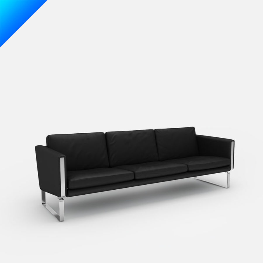 Hans Wegner CH103 Lounge Chair royalty-free 3d model - Preview no. 1