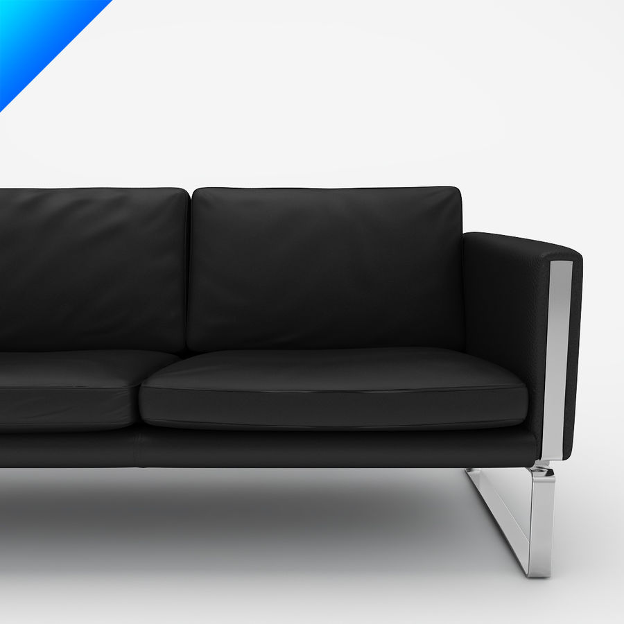 Hans Wegner CH103 Lounge Chair royalty-free 3d model - Preview no. 5