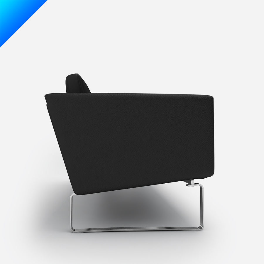 Hans Wegner CH103 Lounge Chair royalty-free 3d model - Preview no. 6