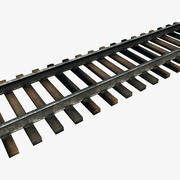 Railroad Track - Modular 3d model