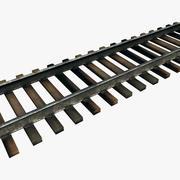 Железнодорожный путь - Модульный 3d model