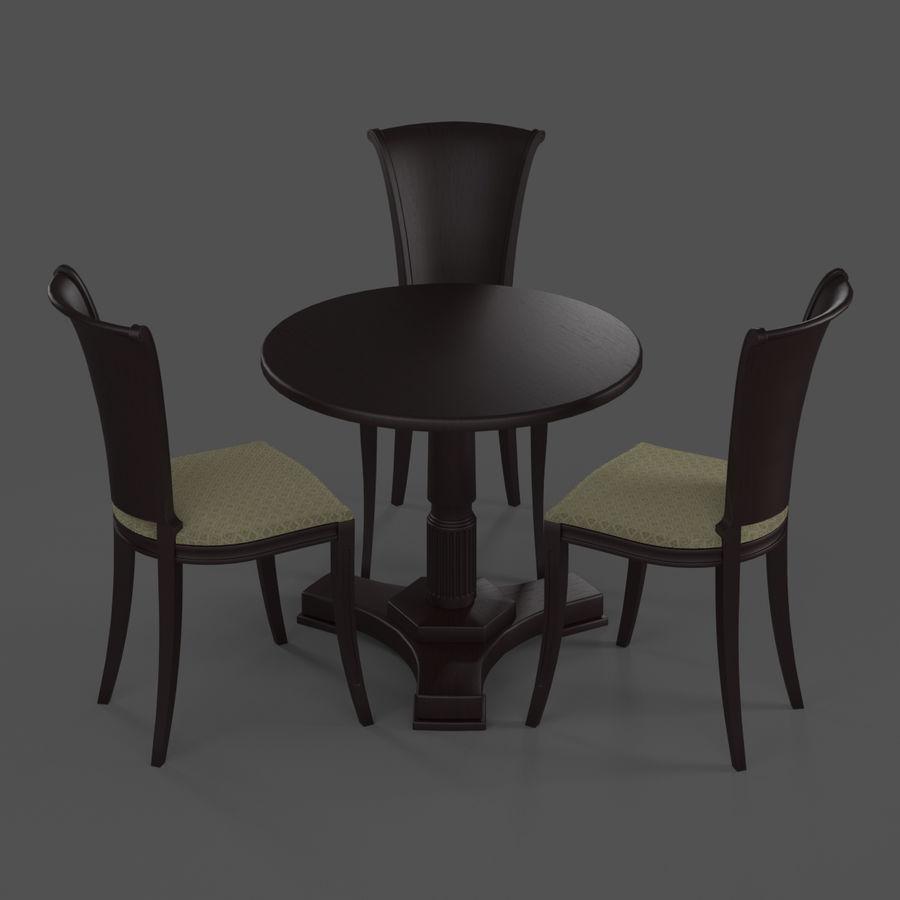 Conjunto de muebles clásicos royalty-free modelo 3d - Preview no. 6