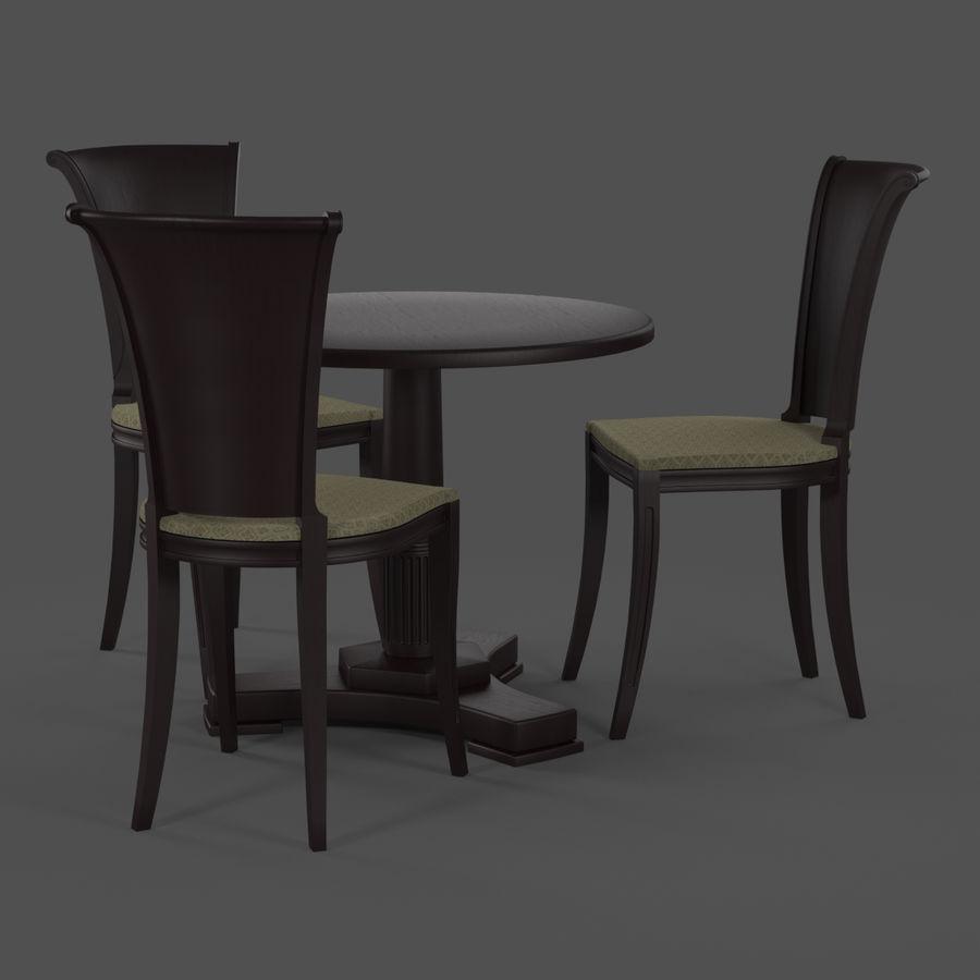 Conjunto de muebles clásicos royalty-free modelo 3d - Preview no. 4