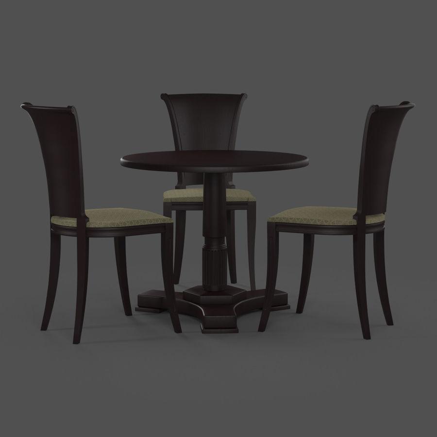 Conjunto de muebles clásicos royalty-free modelo 3d - Preview no. 3
