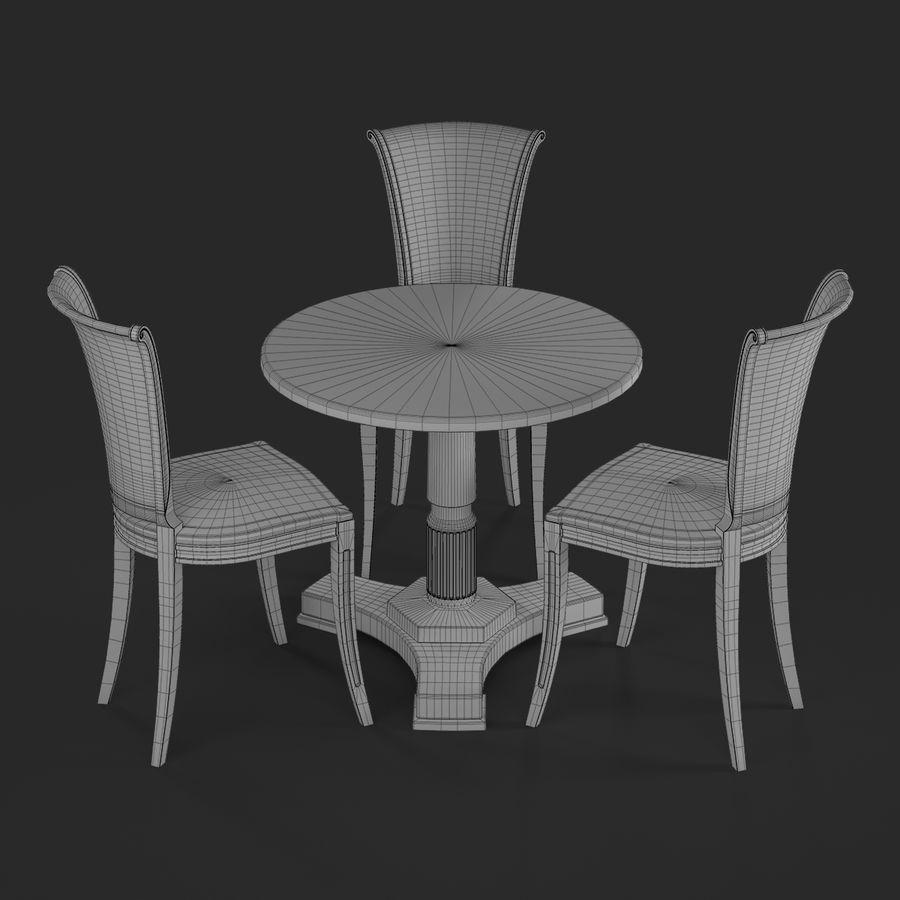 Conjunto de muebles clásicos royalty-free modelo 3d - Preview no. 14
