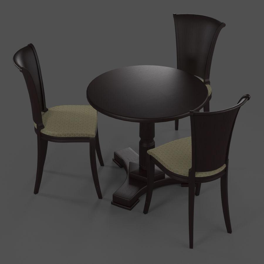 Conjunto de muebles clásicos royalty-free modelo 3d - Preview no. 2
