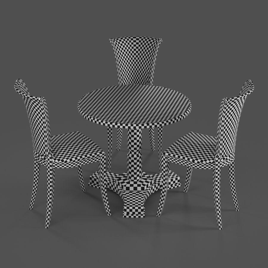 Conjunto de muebles clásicos royalty-free modelo 3d - Preview no. 10