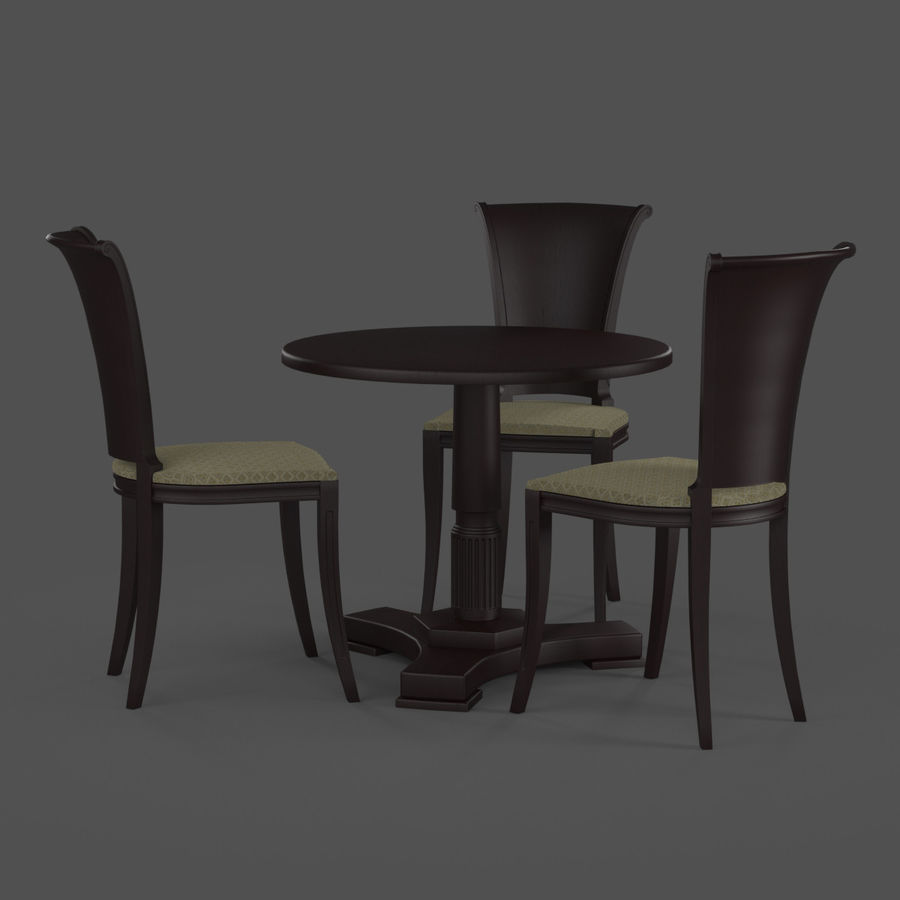 Conjunto de muebles clásicos royalty-free modelo 3d - Preview no. 5