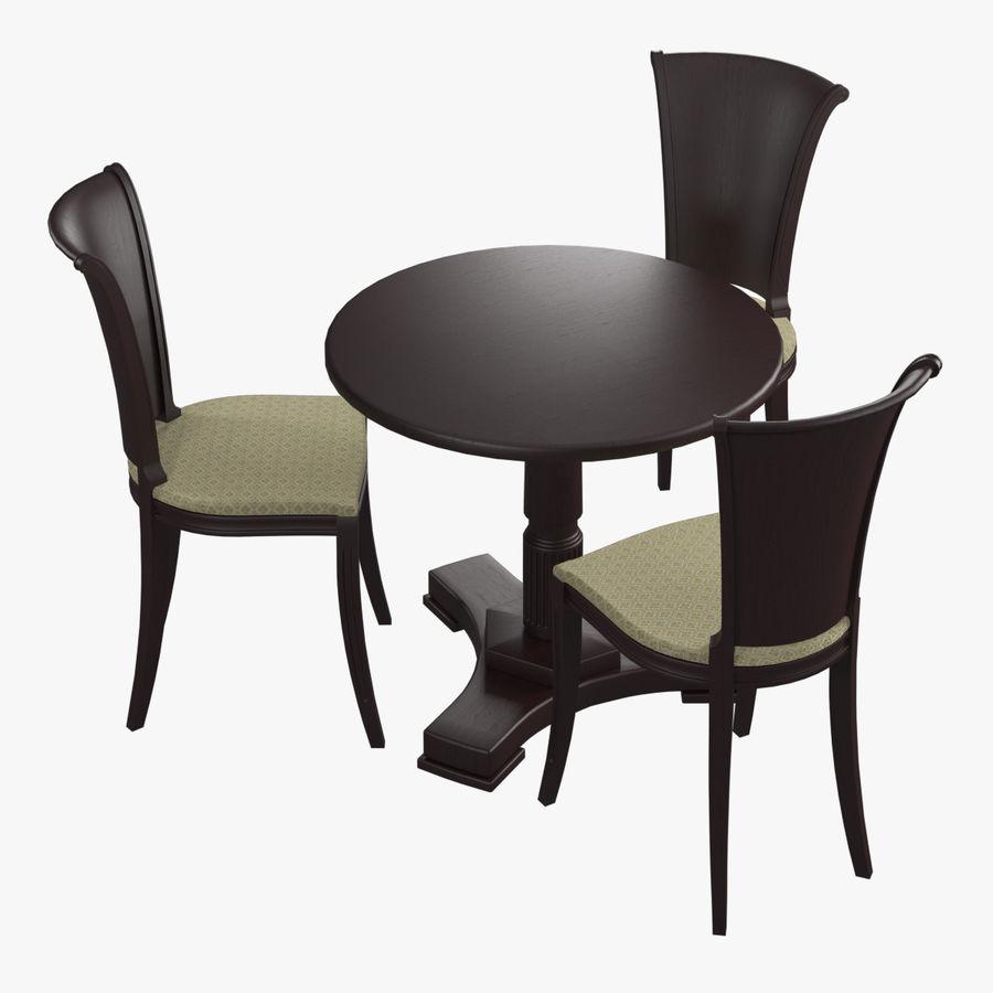 Conjunto de muebles clásicos royalty-free modelo 3d - Preview no. 1