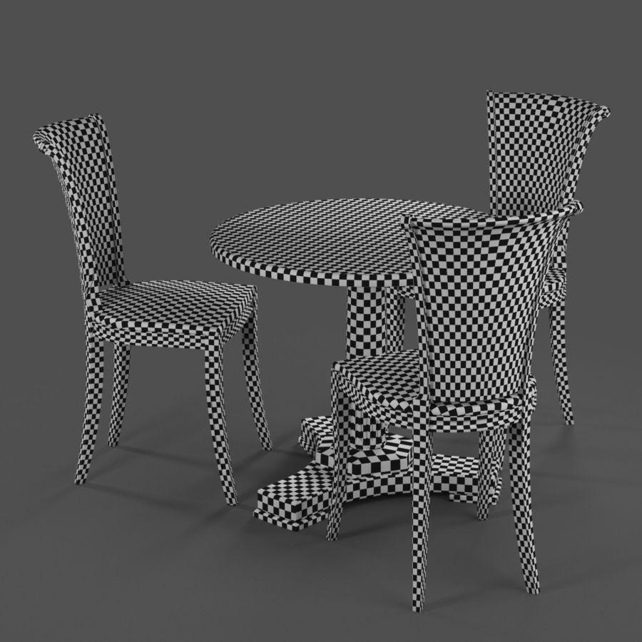 Conjunto de muebles clásicos royalty-free modelo 3d - Preview no. 9