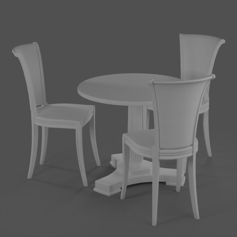 Conjunto de muebles clásicos royalty-free modelo 3d - Preview no. 11