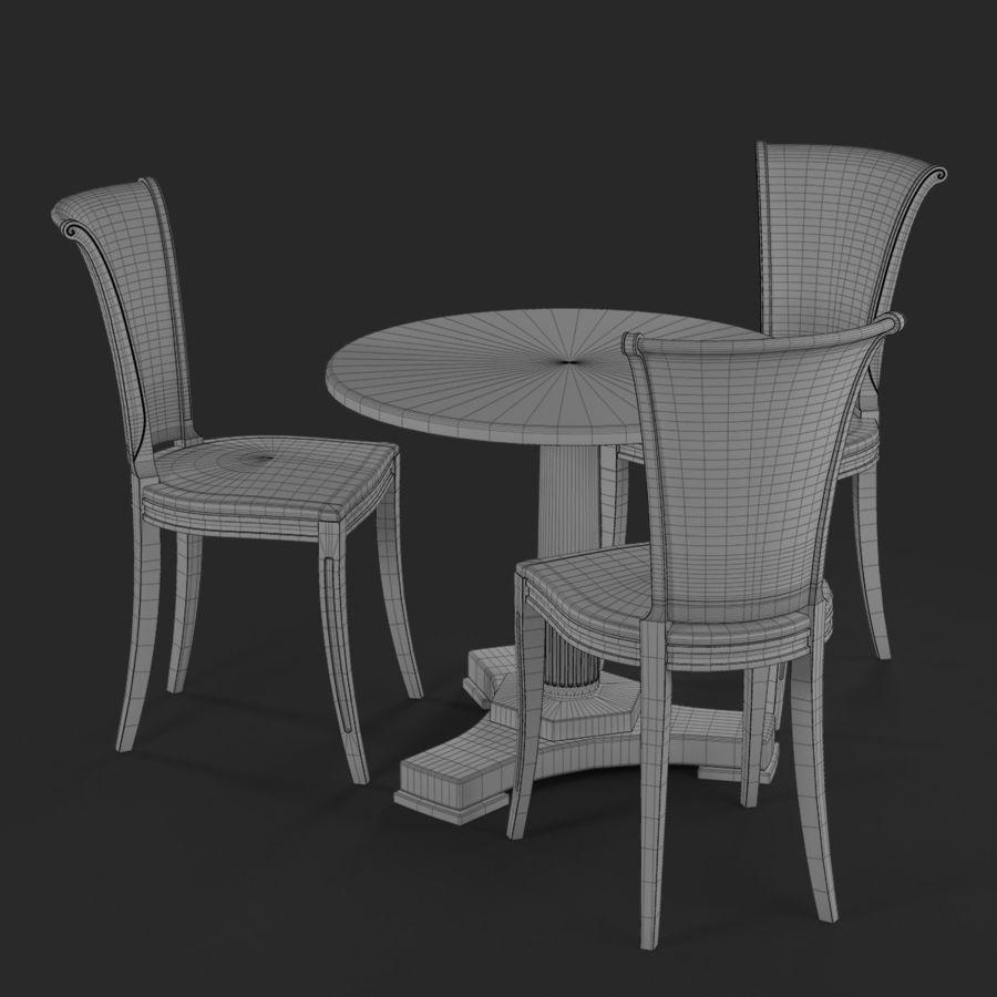 Conjunto de muebles clásicos royalty-free modelo 3d - Preview no. 13