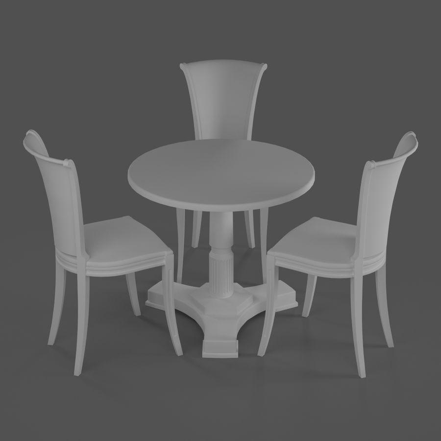 Conjunto de muebles clásicos royalty-free modelo 3d - Preview no. 12