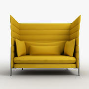 Vitra Alcove chair 4 3d model