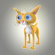 漫画猫1 3d model