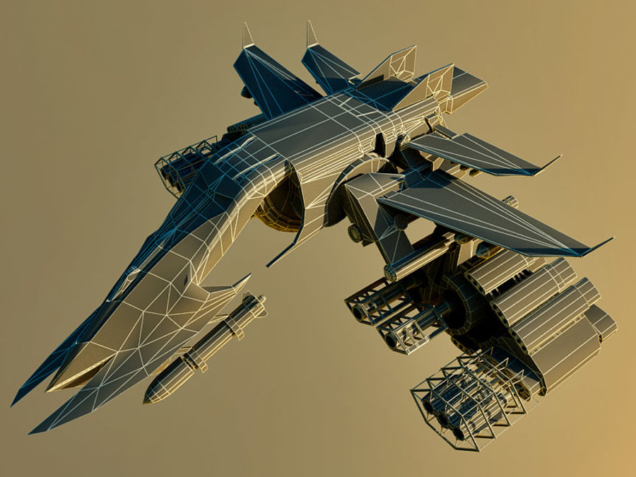 spacecraft royalty-free 3d model - Preview no. 15