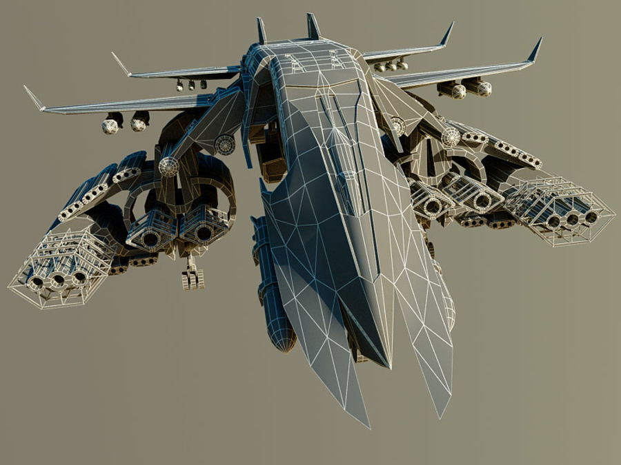 spacecraft royalty-free 3d model - Preview no. 14