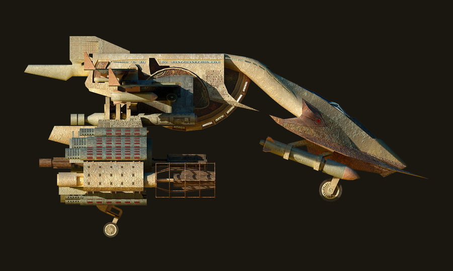 spacecraft royalty-free 3d model - Preview no. 12