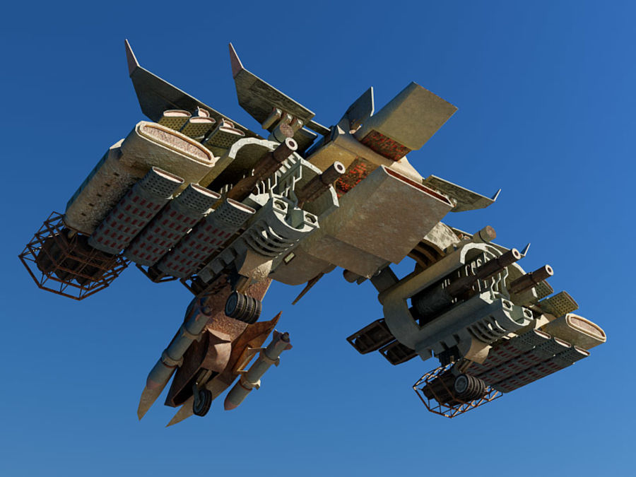 spacecraft royalty-free 3d model - Preview no. 10