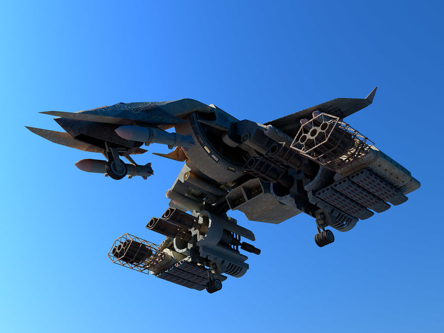 spacecraft royalty-free 3d model - Preview no. 9