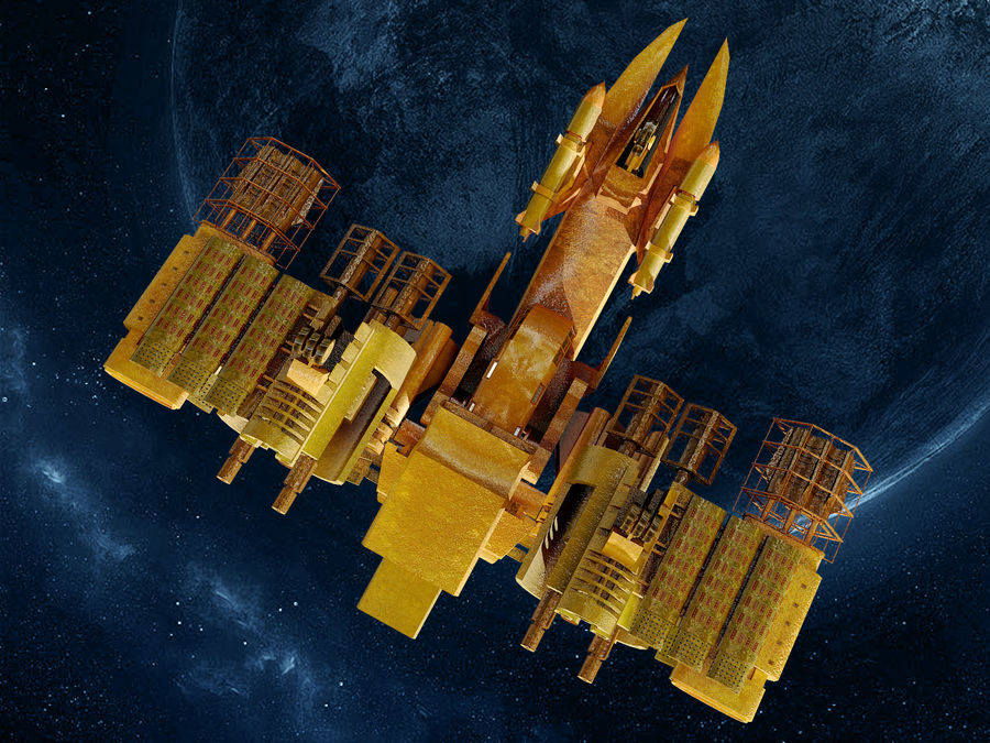spacecraft royalty-free 3d model - Preview no. 6