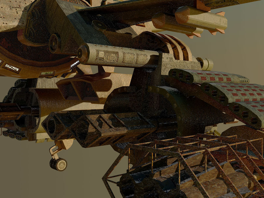 spacecraft royalty-free 3d model - Preview no. 8
