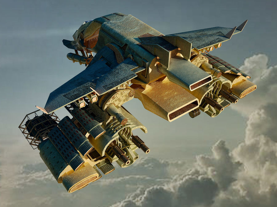spacecraft royalty-free 3d model - Preview no. 4