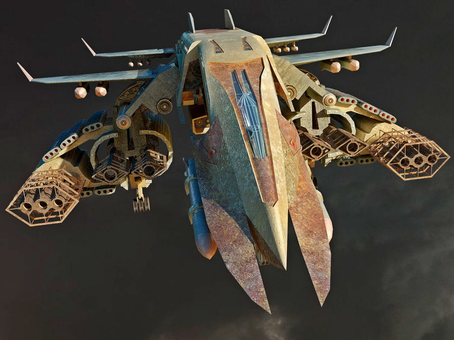 spacecraft royalty-free 3d model - Preview no. 1