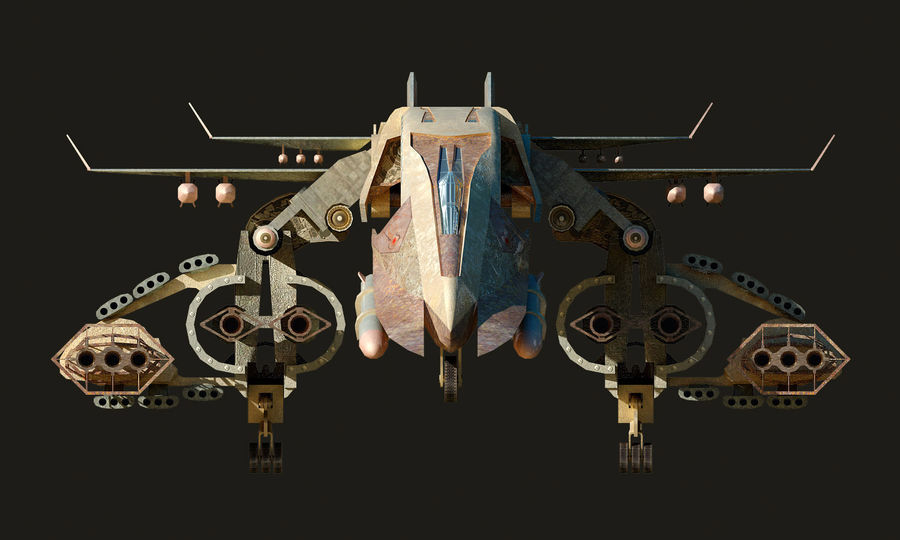 spacecraft royalty-free 3d model - Preview no. 11