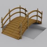 Wooden Garden Bridge 3d model