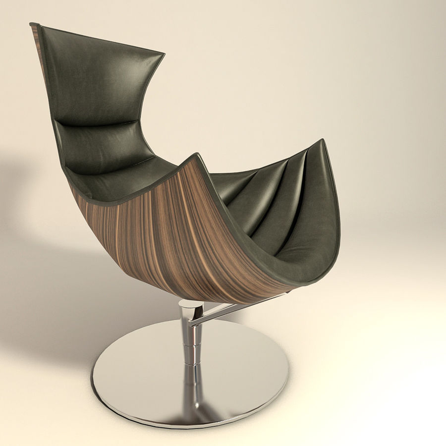 Lobster Chair Royalty Free 3d Model   Preview No. 3