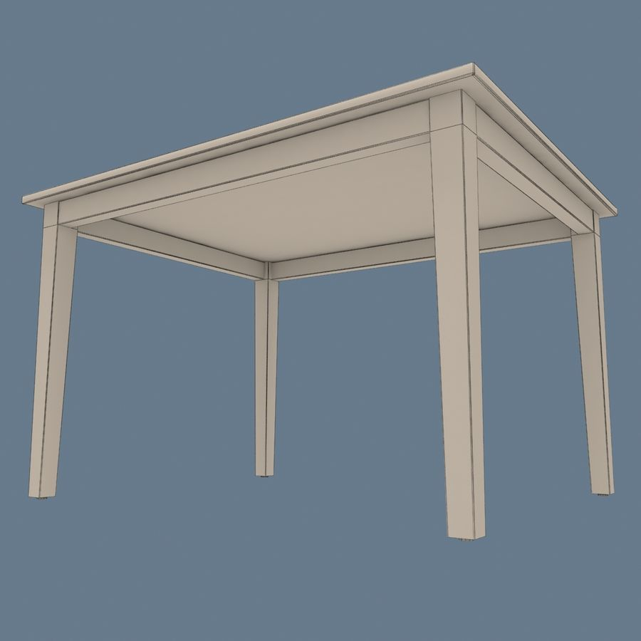Traditional Dinner Table with place settings royalty-free 3d model - Preview no. 15