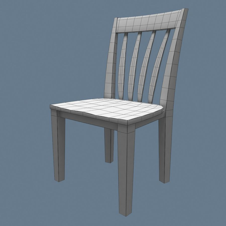 Traditional Dinner Table with place settings royalty-free 3d model - Preview no. 17