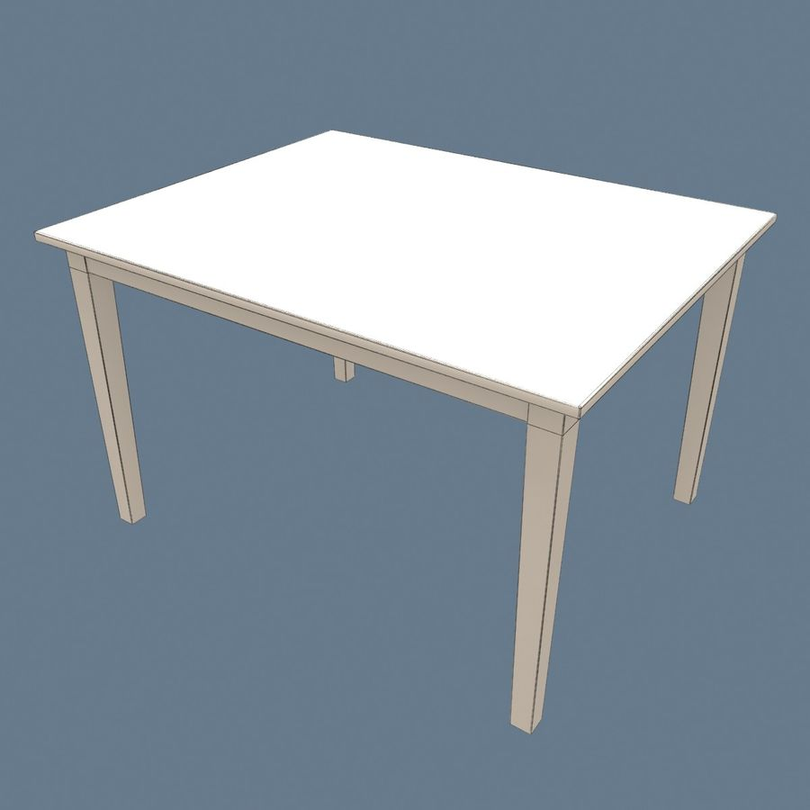 Traditional Dinner Table with place settings royalty-free 3d model - Preview no. 13
