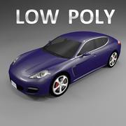 Car Low Polygon Porsche Panamera 3d model