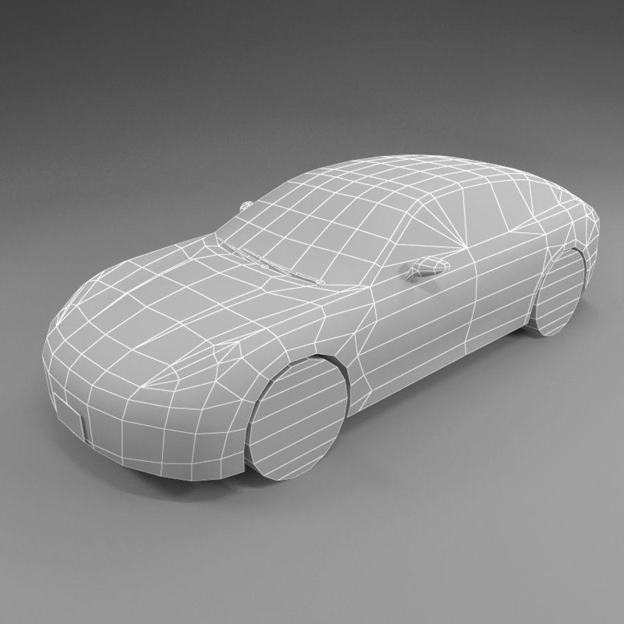 Car Low Polygon Porsche Panamera royalty-free 3d model - Preview no. 3