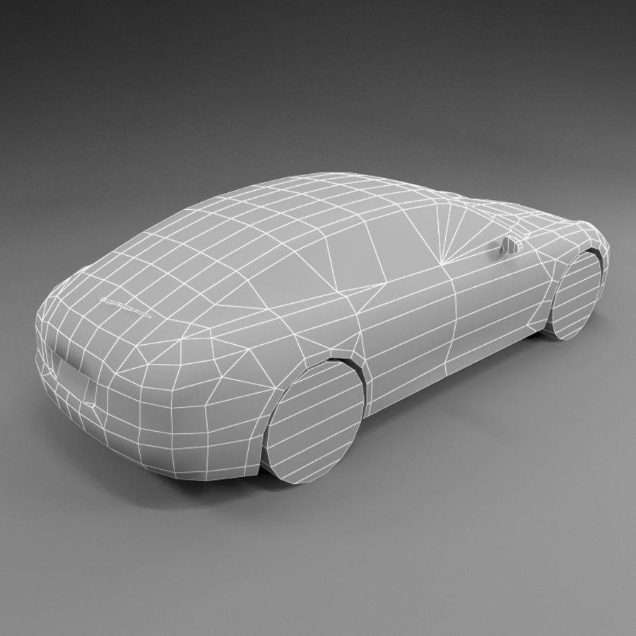 Car Low Polygon Porsche Panamera royalty-free 3d model - Preview no. 4