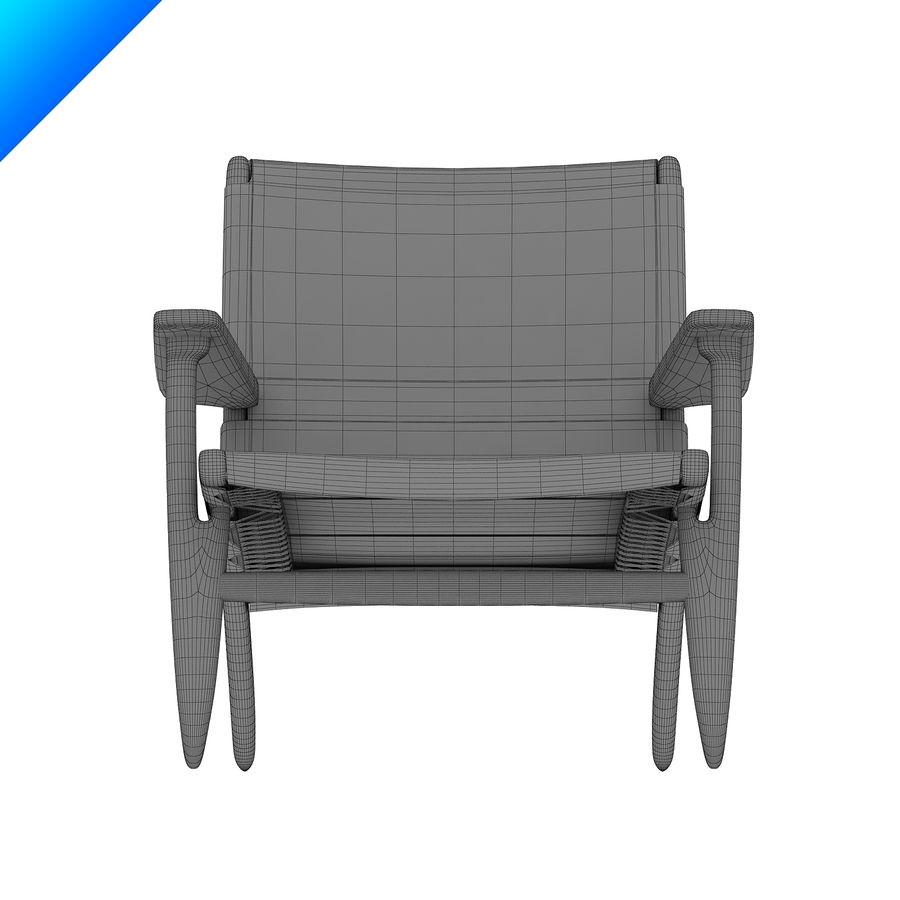 Hans Wegner Ch25安乐椅 royalty-free 3d model - Preview no. 10