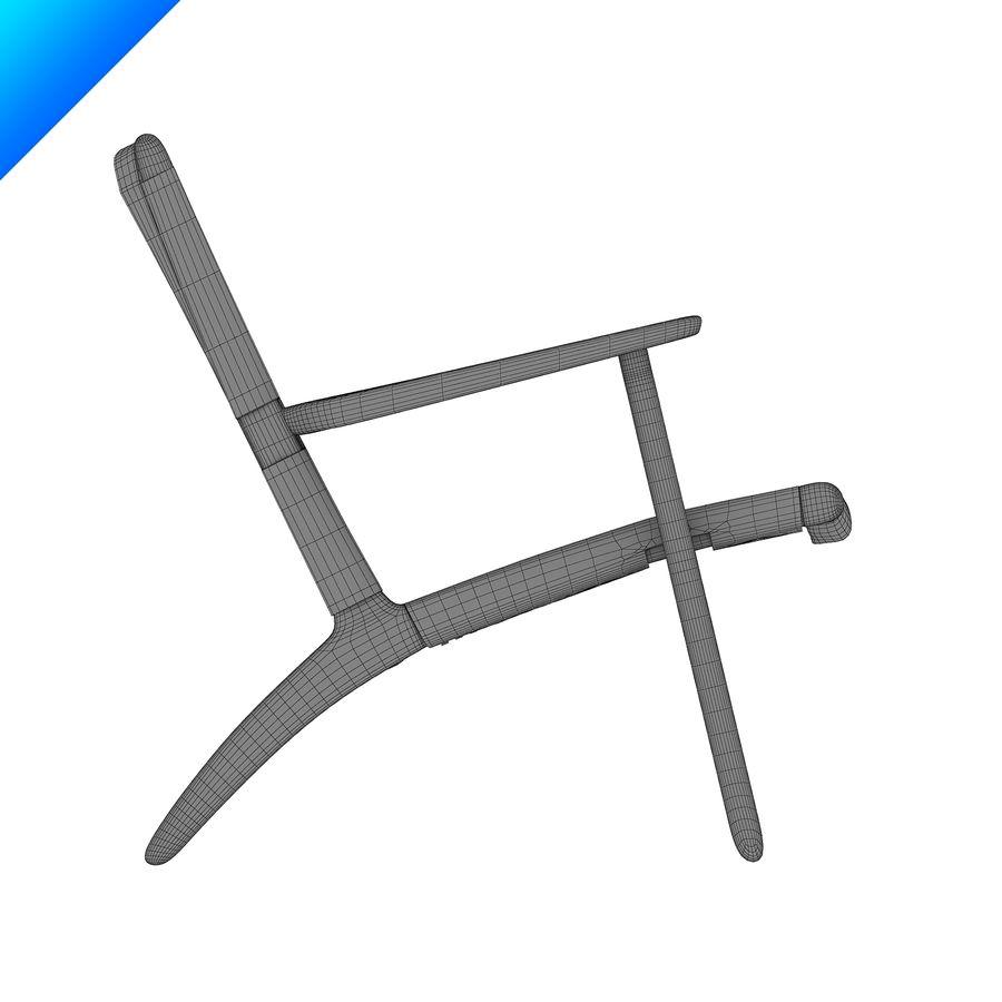 Hans Wegner Ch25安乐椅 royalty-free 3d model - Preview no. 12