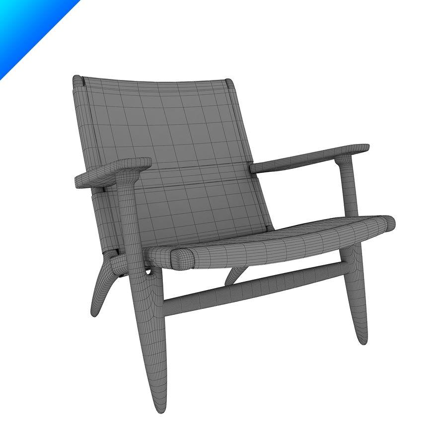 Hans Wegner Ch25安乐椅 royalty-free 3d model - Preview no. 9