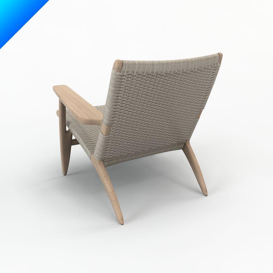 Hans Wegner Ch25安乐椅 royalty-free 3d model - Preview no. 3