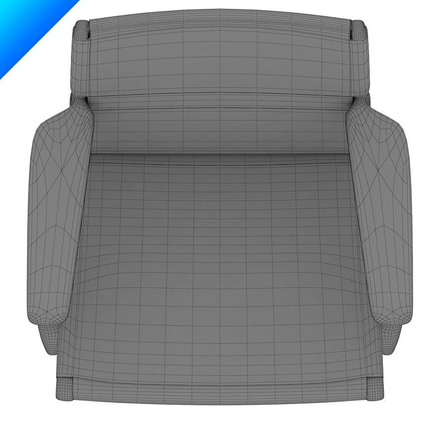 Hans Wegner Ch25安乐椅 royalty-free 3d model - Preview no. 11