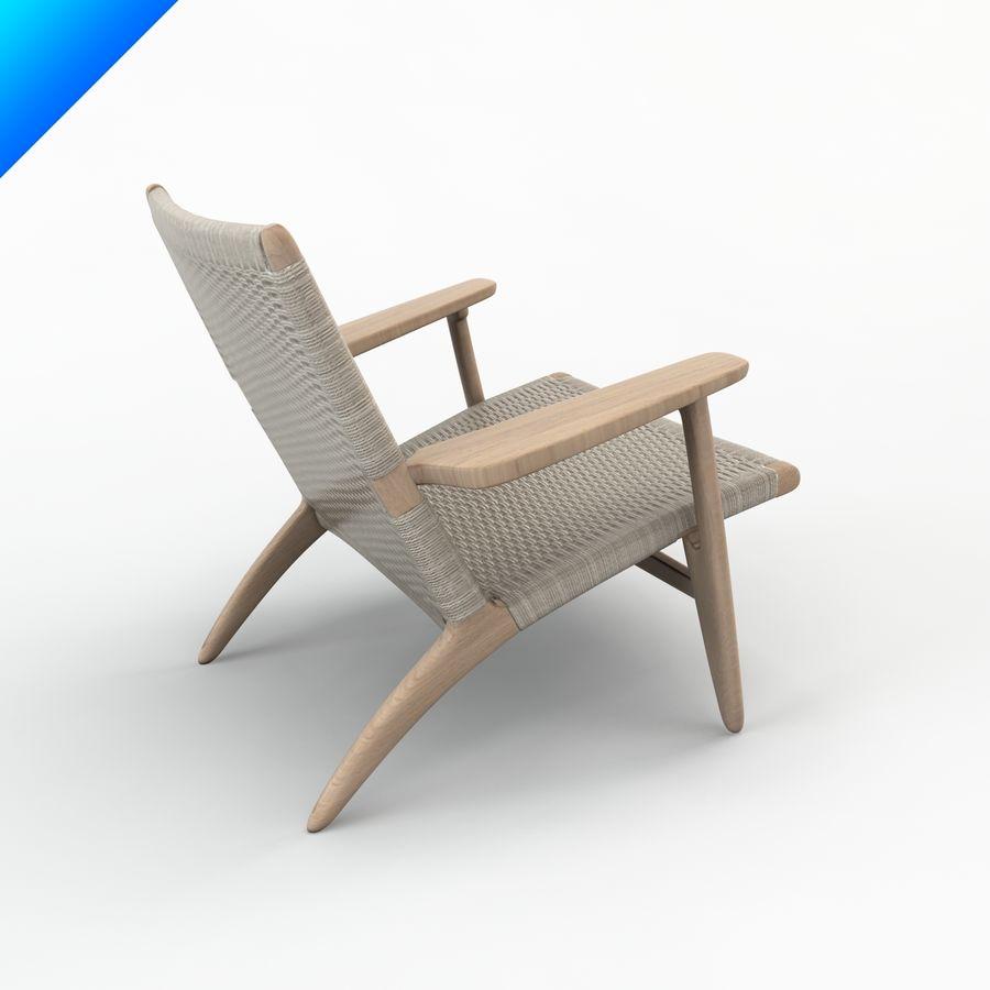 Hans Wegner Ch25安乐椅 royalty-free 3d model - Preview no. 2