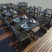 Bord - Stolar - Inställning 3d model