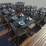 Table - Chairs - Setting 3d model
