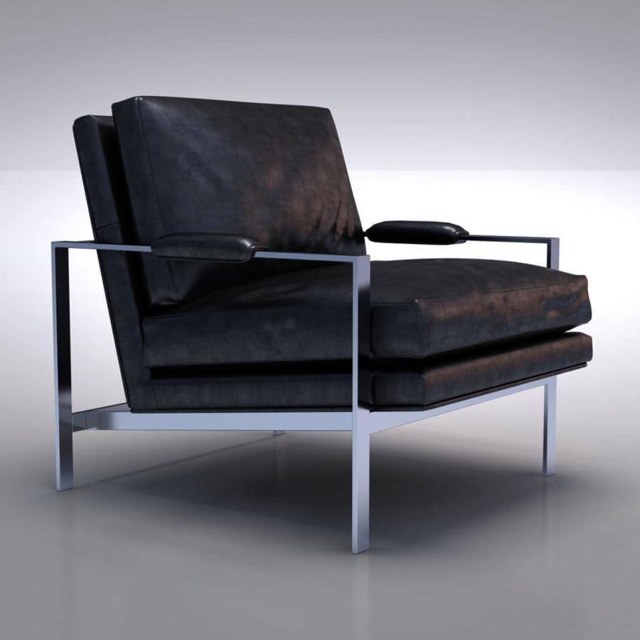Crate and Barrel - Milo Classic Salon en cuir modèle 3D $29 ...