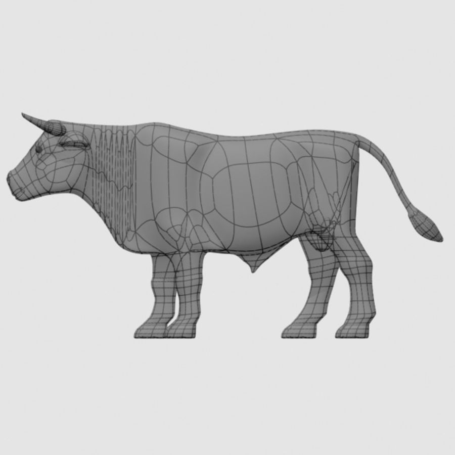 stier royalty-free 3d model - Preview no. 4