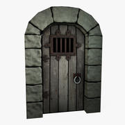 Low Poly Castle Door 3d model