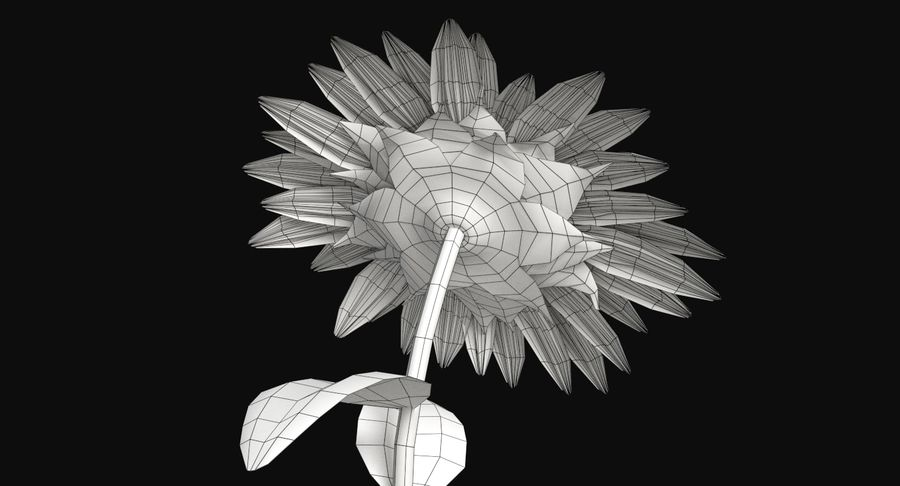 Sunflower royalty-free 3d model - Preview no. 15
